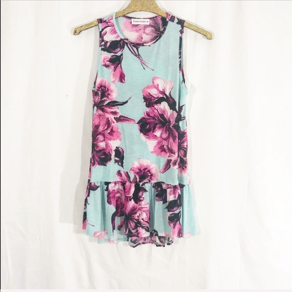 saved by the dress Dresses & Skirts - NWOT SKY BLUE FLORAL TUNIC DRESS